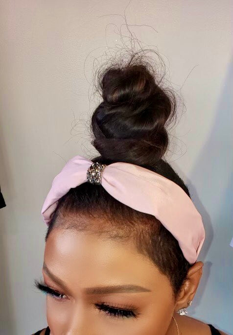 SATIN CRYSTAL KNOT | HEADBAND