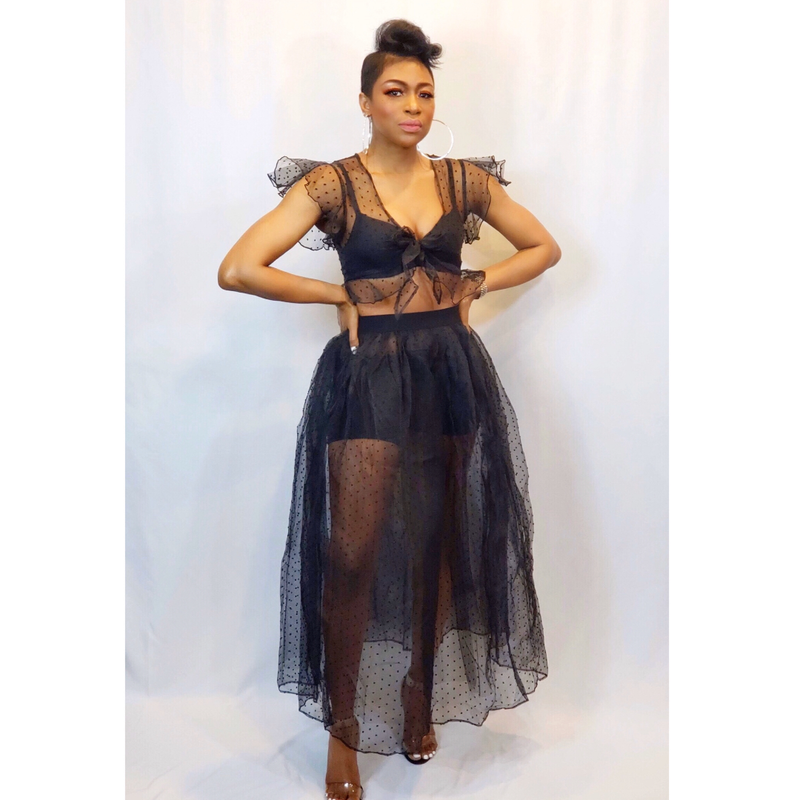 CITY GIRLS SHEER | SKIRT SET (Size S - L)