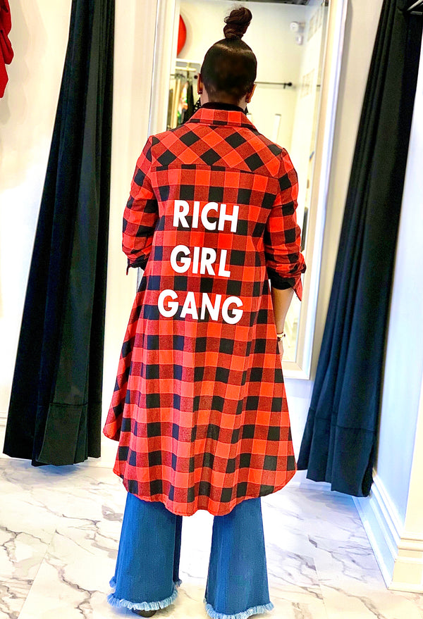RICH GIRL | SHIRT DRESS (Size S - XL)