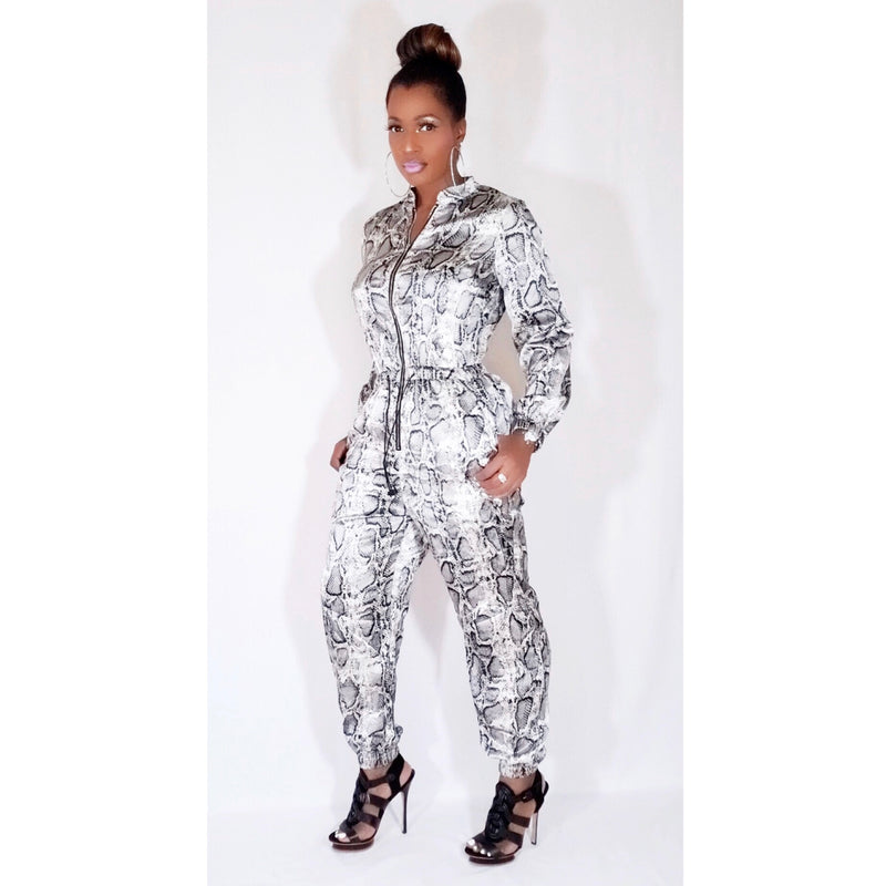 """LADY PYTHON"" JUMPSUIT (Available up to Size 3X)"