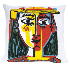 Head of a woman with a hat - Picasso Cushion Cover 60 x 60cm