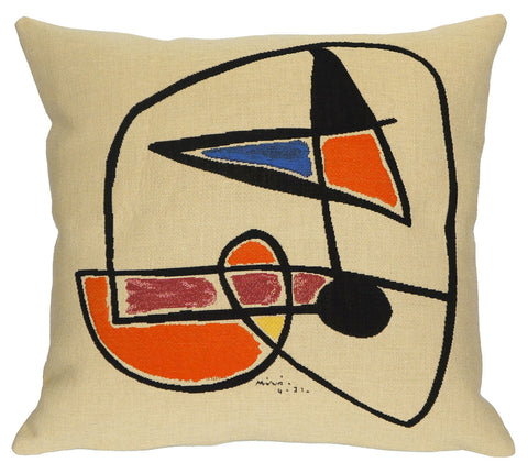 Tete d'homme 1931 - Miro Cushion Cover