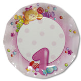 First Birthday Italian Paper Plates 27cm