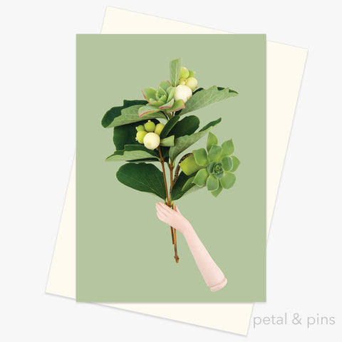 Foraged Bunch Greeting Card