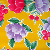 Mexican Oilcloth Yellow Flower Pattern