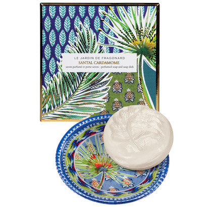 Fragonard - Santal and Cardamone Perfumed Soap and Dish Set