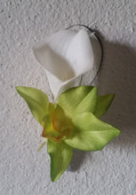 Load image into Gallery viewer, Ivory Green Orchid Calla Lily