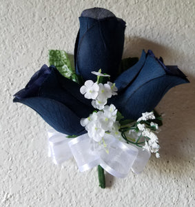 Navy Blue Rose Bud