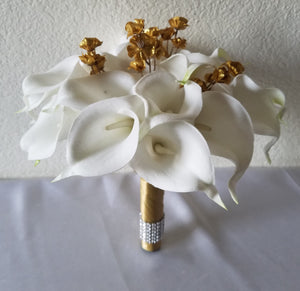 Ivory Gold Baby's Breath Calla Lily