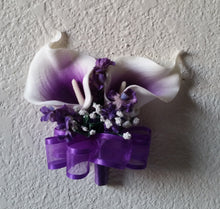 Load image into Gallery viewer, Purple Ivory White Calla Lily
