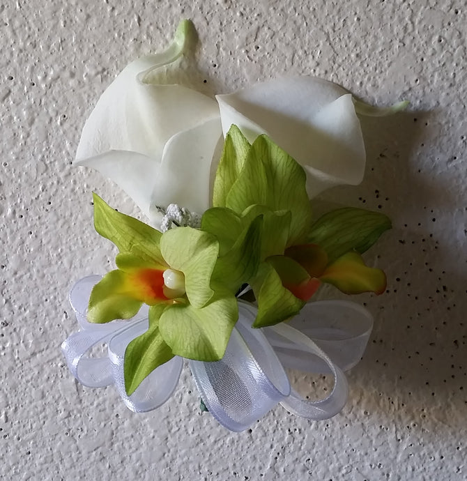 Ivory Green Orchid Calla Lily