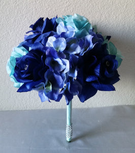 Aqua Royal Blue Rose Hydrangea