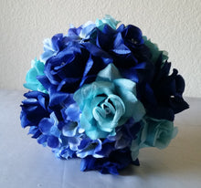 Load image into Gallery viewer, Aqua Royal Blue Rose Hydrangea