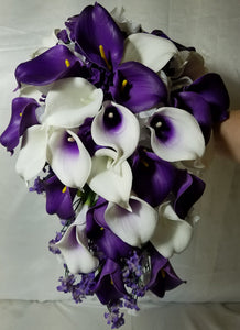Purple Ivory White Calla Lily