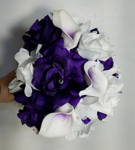 Purple White Rose Calla Lily