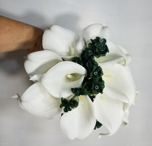 Hunter Green Baby Breath Calla Lily