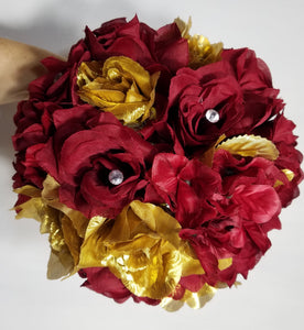 Dark Red Gold Rose Hydrangea
