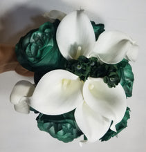Load image into Gallery viewer, Hunter Green Rose Calla Lily