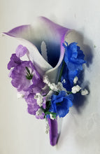 Load image into Gallery viewer, Purple Royal Blue Rose Calla Lily