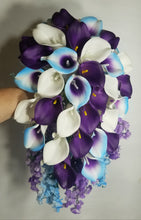 Load image into Gallery viewer, Purple Light Blue Ivory Calla Lily