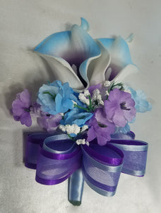 Purple Light Blue Ivory Calla Lily