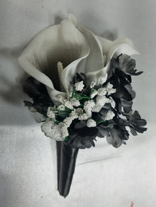 Black White Calla Lily