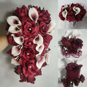 Burgundy Rose Calla Lily