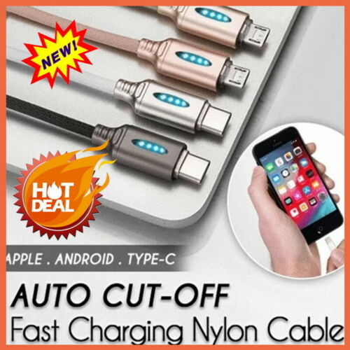 Fast Charging Auto Cut-Off Data line