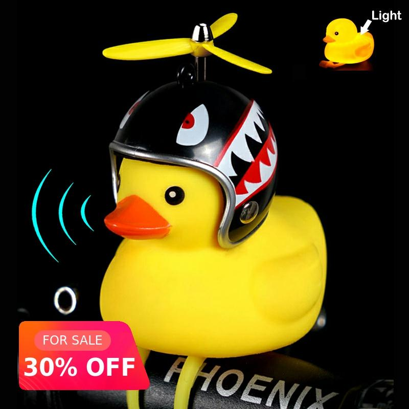 Lovely bicycle bell duck light