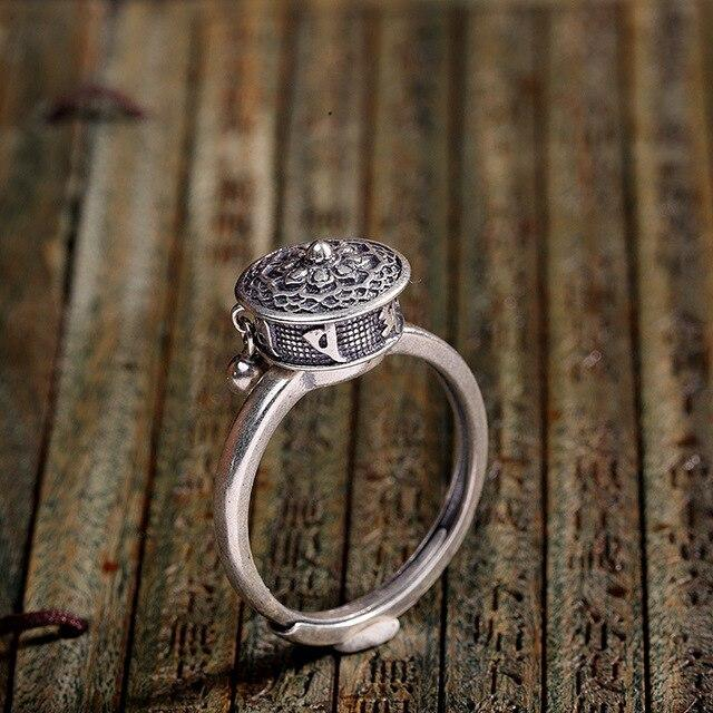 Spinning Buddhist Mantra Ring
