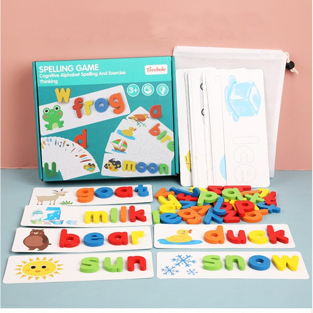 Alphabet letter learning card toy