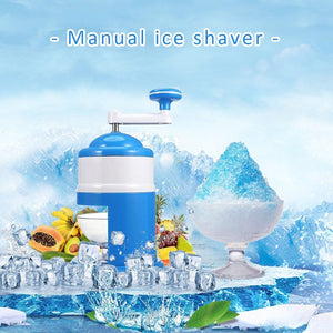 Portable shaved ice crusher