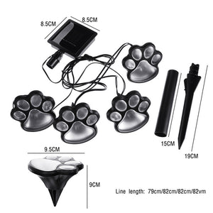 Solar-powered dog paw light