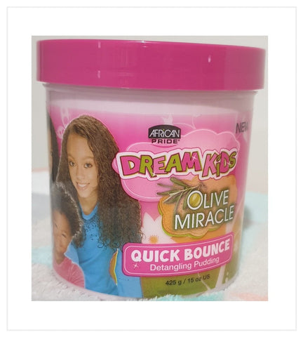 AFRICAN PRIDE DREAM KIDS OLIVE MIRACLE QUICK BOUNCE DETANGLING PUDDING 15oz - Australia Stock - LOL Hair & Beauty