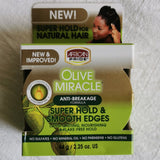 AFRICAN PRIDE OLIVE MIRACLE SILKY SMOOTH EDGES 2.25oz - Australia Stock - LOL Hair & Beauty
