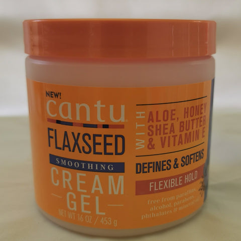 Cantu Flaxseed Smoothing Cream gel 16oz- Australia Stock - LOL Hair & Beauty