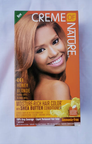Creme of Nature Permanent Hair Color C41 Honey Blonde - Australia Stock - LOL Hair & Beauty