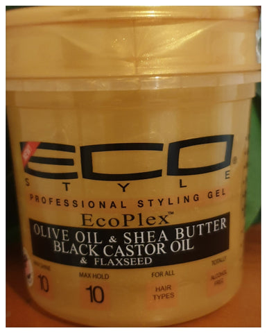 Eco Style Gold Olive Oil & Shea Butter & Black Castor Oil & Flaxseed Gel 16oz - Australia Stock - LOL Hair & Beauty