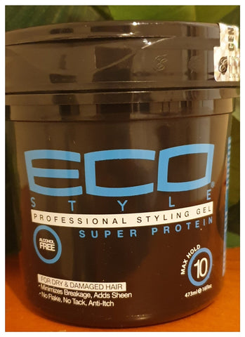 Eco Style Professional Styling Gel Super Protein 16oz - Australia Stock - LOL Hair & Beauty
