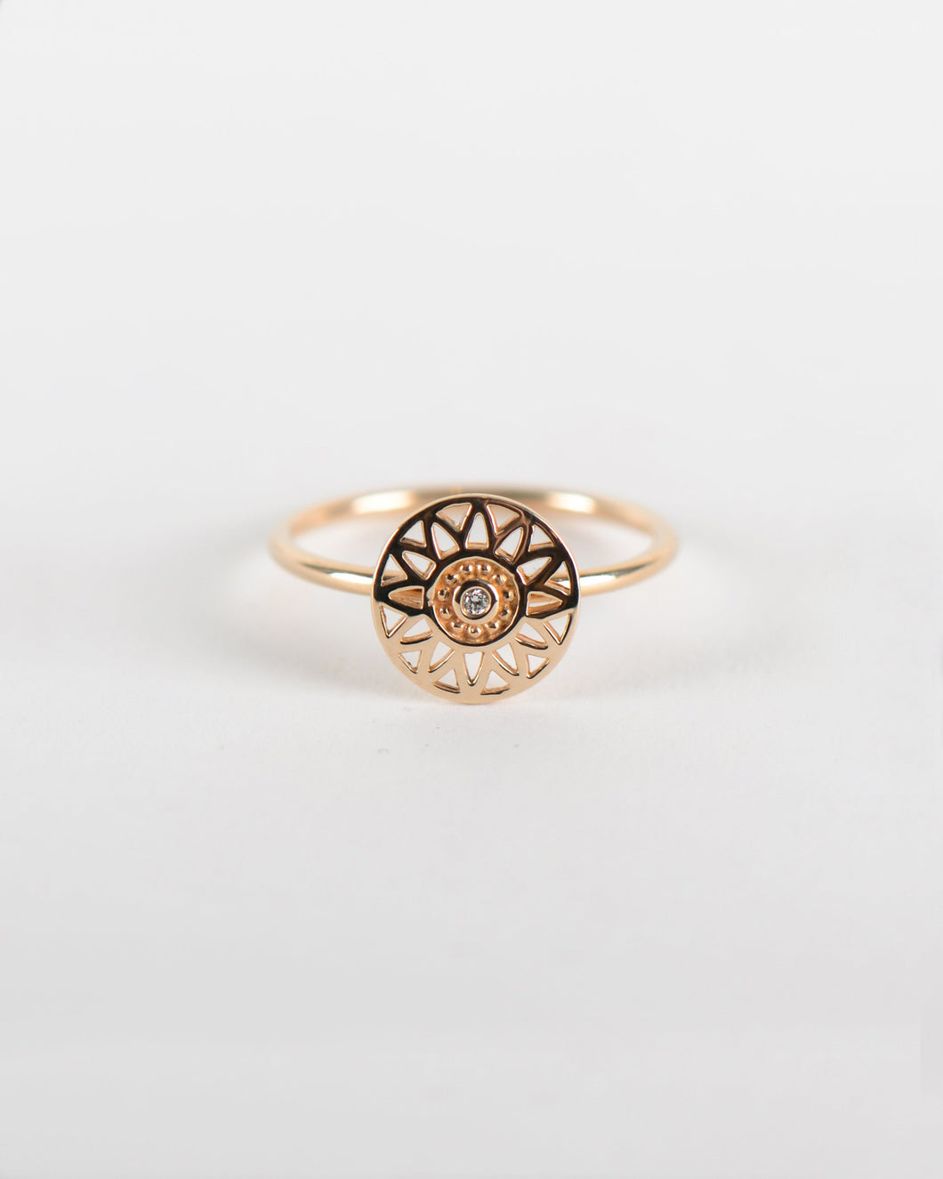 Helios Diamond Ring in Gold