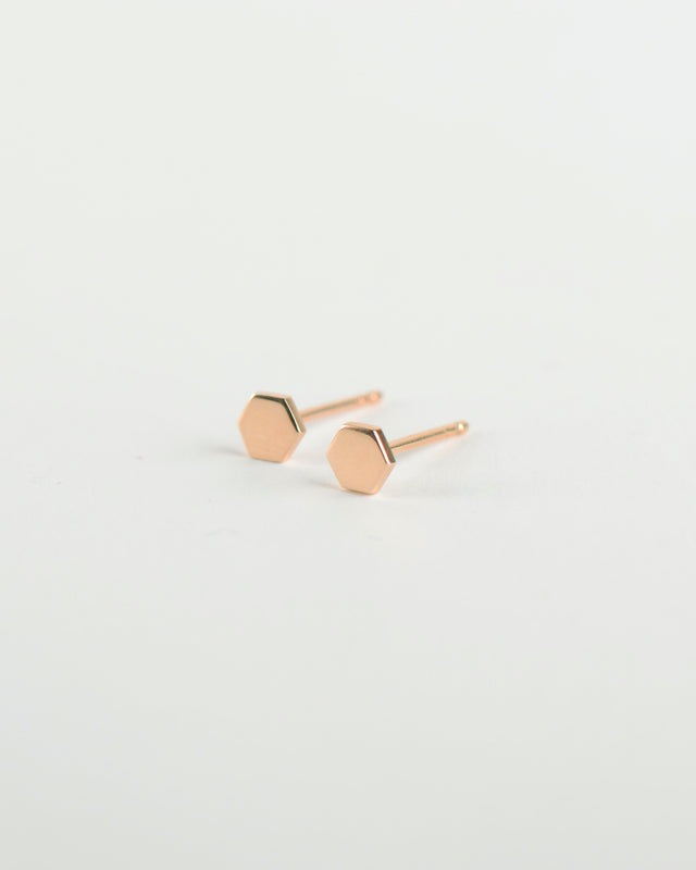 Geo 2 Earrings in Rose Gold