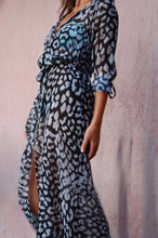 Load image into Gallery viewer, ISADORA Leopard Duster Dress