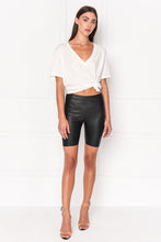 Load image into Gallery viewer, DARI Leather Biker Shorts