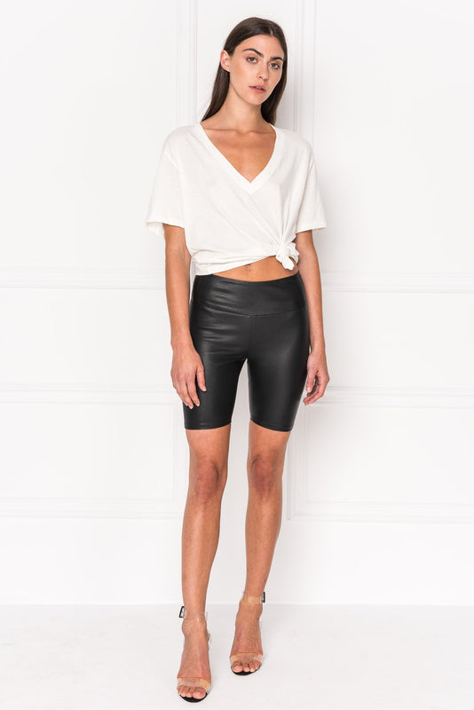 DARI Leather Biker Shorts