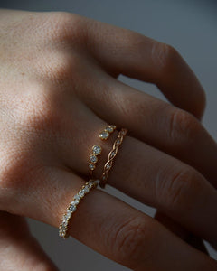 Savannah Ring in 14K Rose Gold with Diamonds