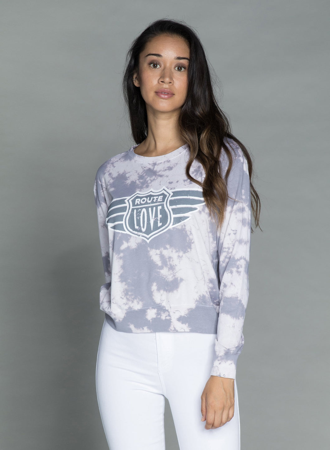 ROUTE LOVE — Wide long Sleeve T-Shirt