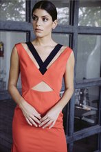 Load image into Gallery viewer, Laura Dress -Red/Navy