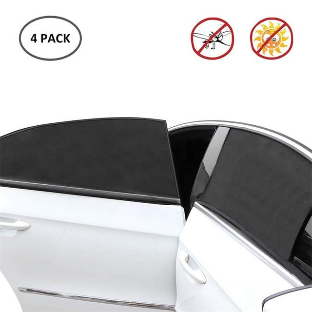 4 Pack Universal Car Sun Shade With UV Protection