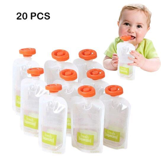 DIY Baby Food Squeeze Station Pouches