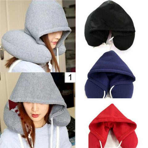 Travel Pillow & Privacy Hoodie